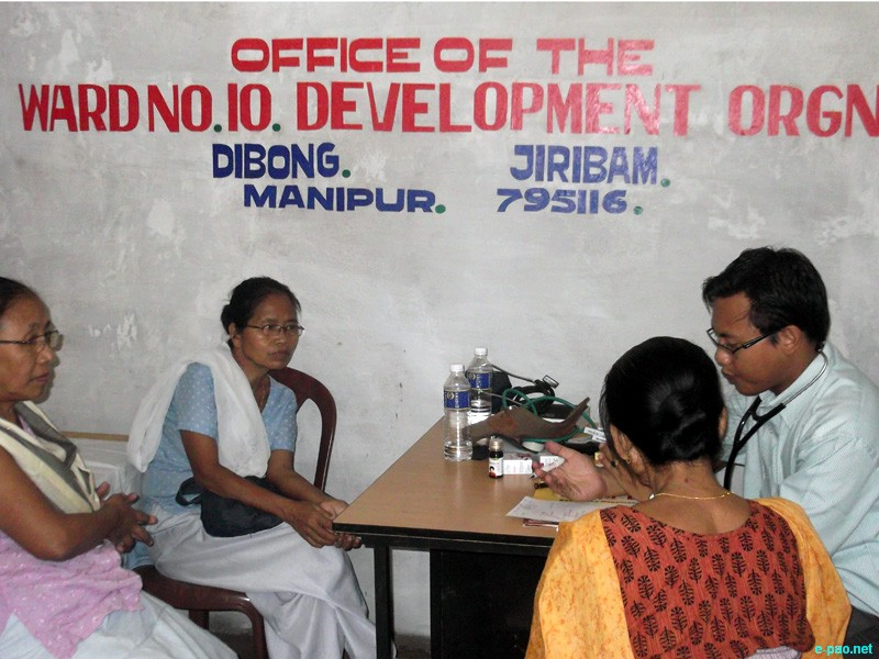 Free medical camp organize by Ward no 10 Development Organization at Dibong, Jiribam  :: July 2012
