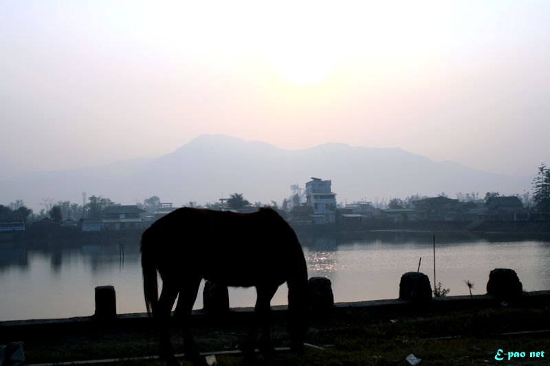 Landscape Picture of Imphal Valley by Banti Phurailatpam :: January 2012