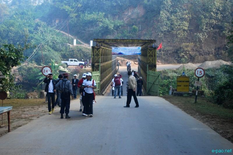 Indo-Burma Frienship Bridge at Moreh  - Border Town between Manipur and Myanmar :: December 2012