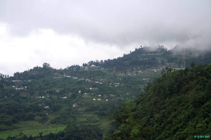 Senapati as seen from the Road  :: July 2012