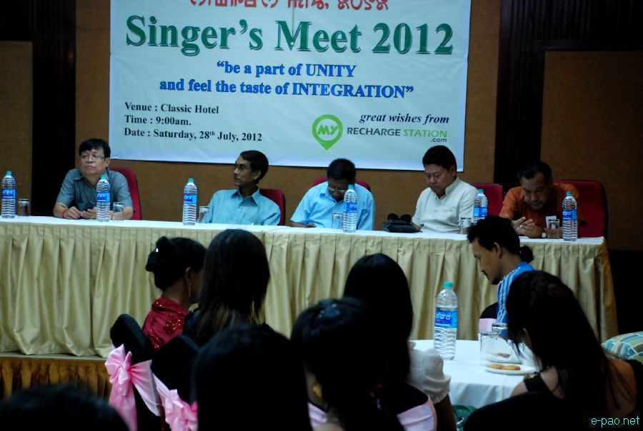 Singers meet 2012 observed at Classic Regency, Imphal under theme 'Be a part of unity and feel the taste of integration' :: 28 July 2012