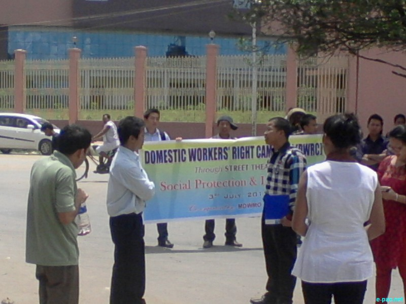 A campaign on social and legal protection of domestic workers at City Convention Center, Imphal  :: 03 July 2012