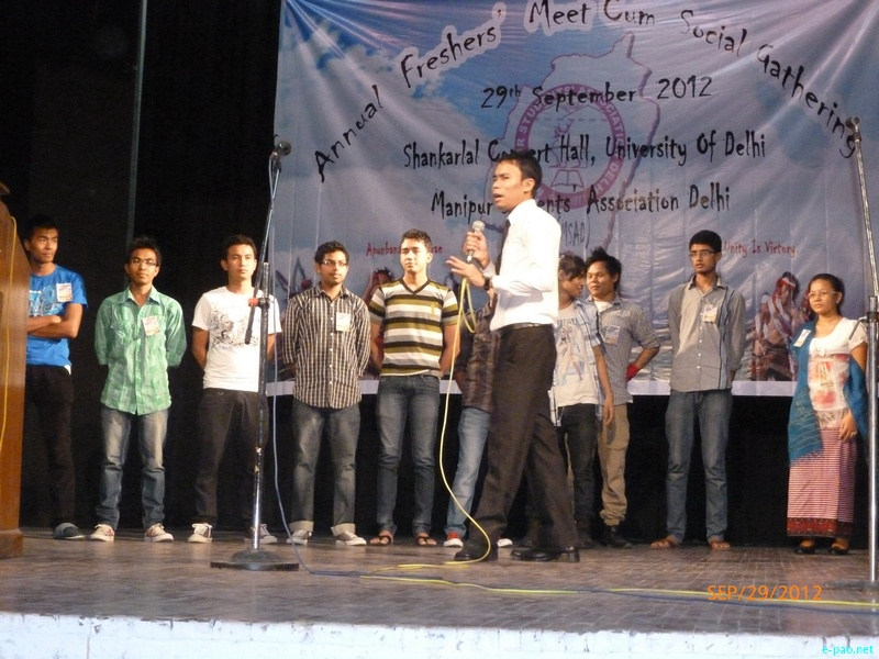MSAD Annual Fresher's Meet at University of Delhi (North Campus) in September 2012