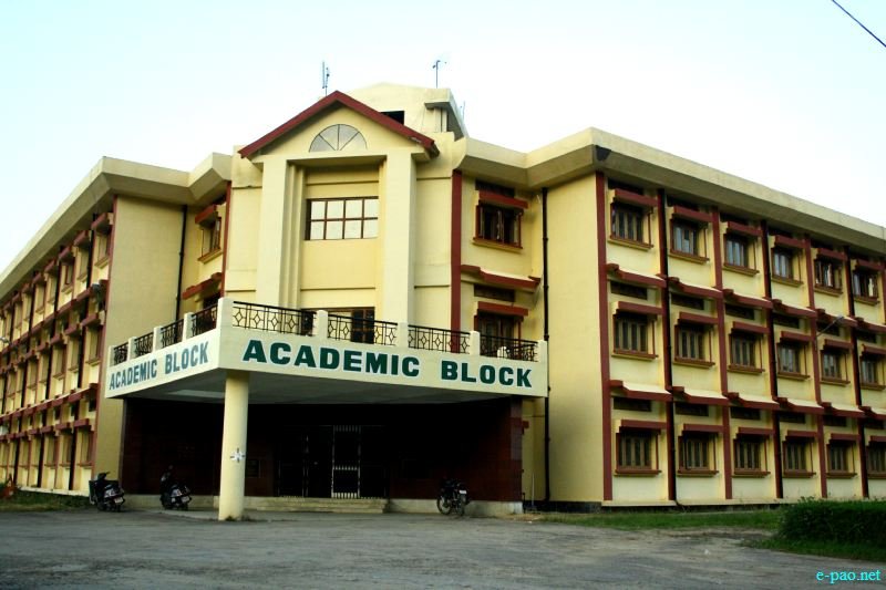 Academic Block : Department Buildings of CAU (Central Agri University), Iroishemba , Photo taken in October 2012
