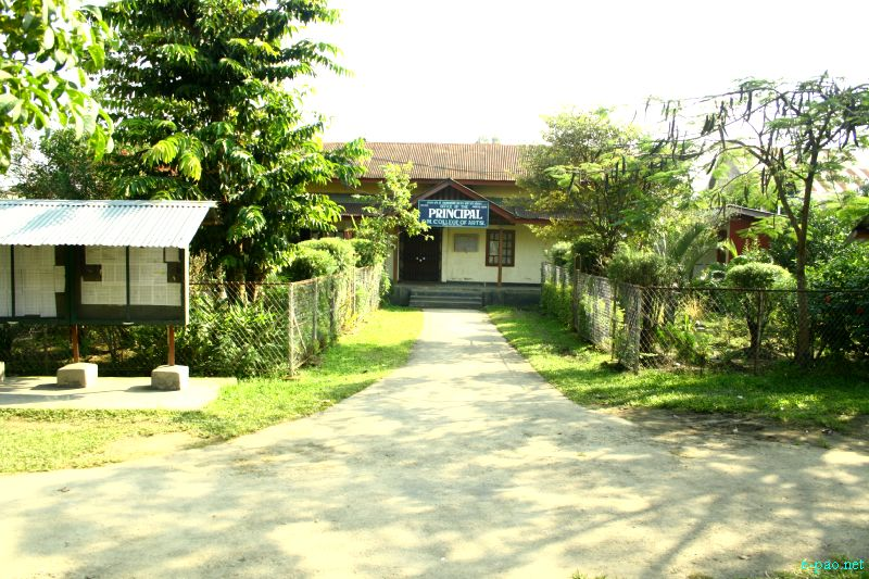 Office of the Principal : Department Buildings of DM College of Arts,  Imphal ::  October 2012