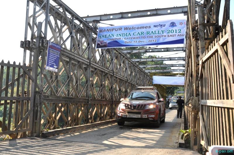 ASEAN-INDIA Car Rally 2012  passing through Moreh Area, Manipur :: 15 December, 2012