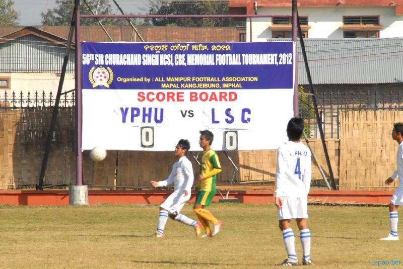 56th CC Meet Football Qualifying round being held at Mapal Kangjeibung :: 03 December, 2012