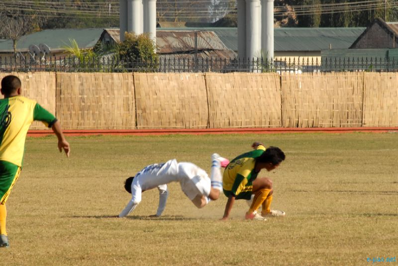 56th CC Meet Football Qualifying round being held at Mapal Kangjeibung :: 03 December, 2012