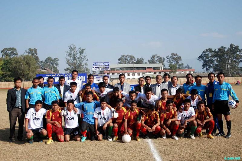 Opening match of 56th CC Meet Football Final round held at Mapal Kangjeibung :: 19 December, 2012