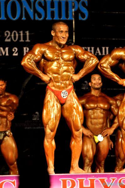 Arambam Boby at Asia Body Building Championship, Bangkok